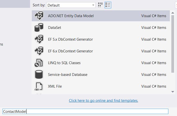 Choosing the ADO.NET Entity Data Model - Using The Entity Framework