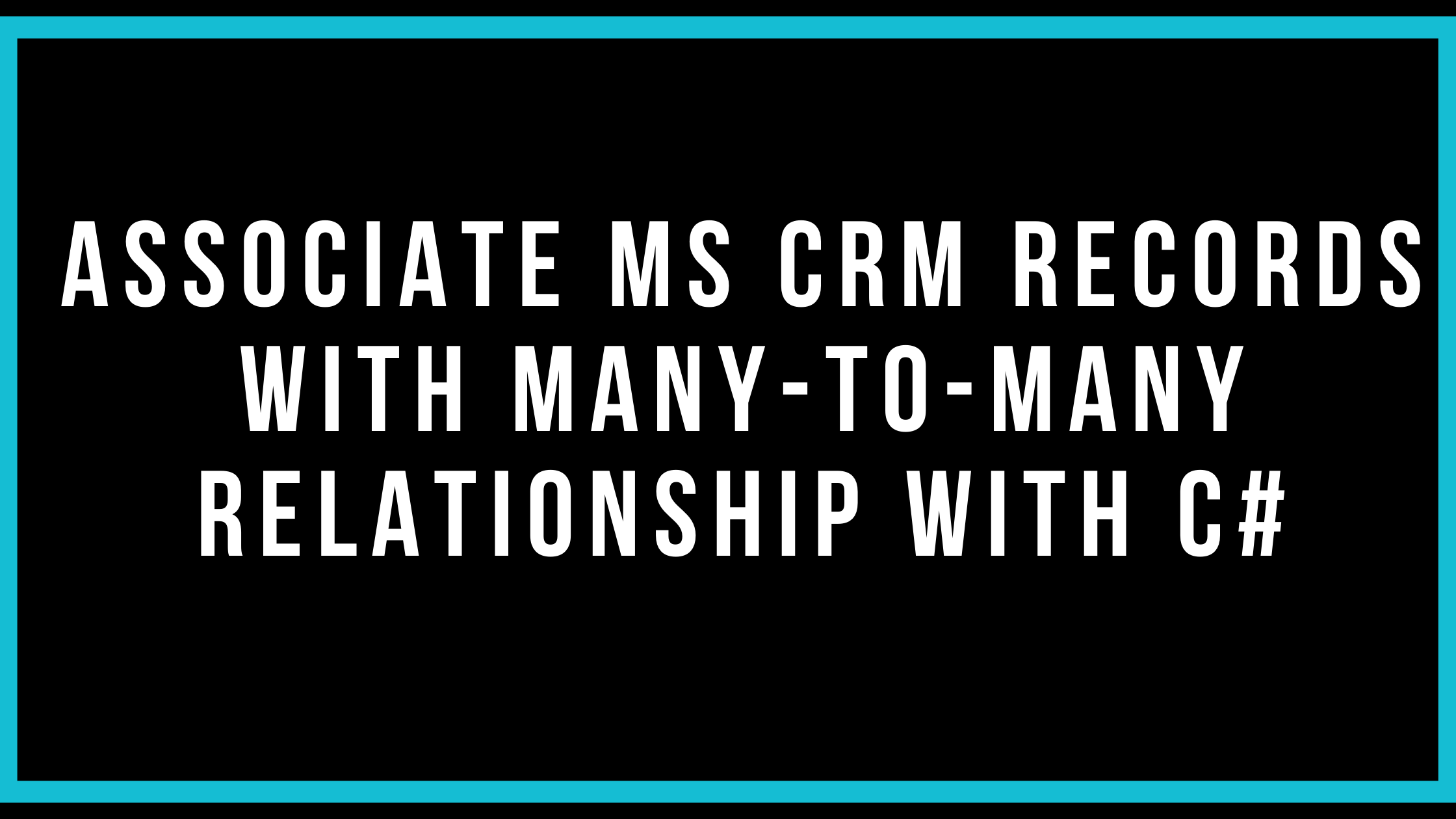 Associate MS CRM Records With Many-To-Many Relationship With C#