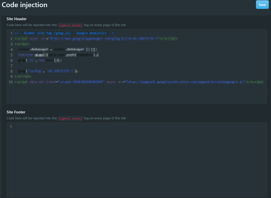 Custom JavaScript Code Injection at your Site Header or Site Footer