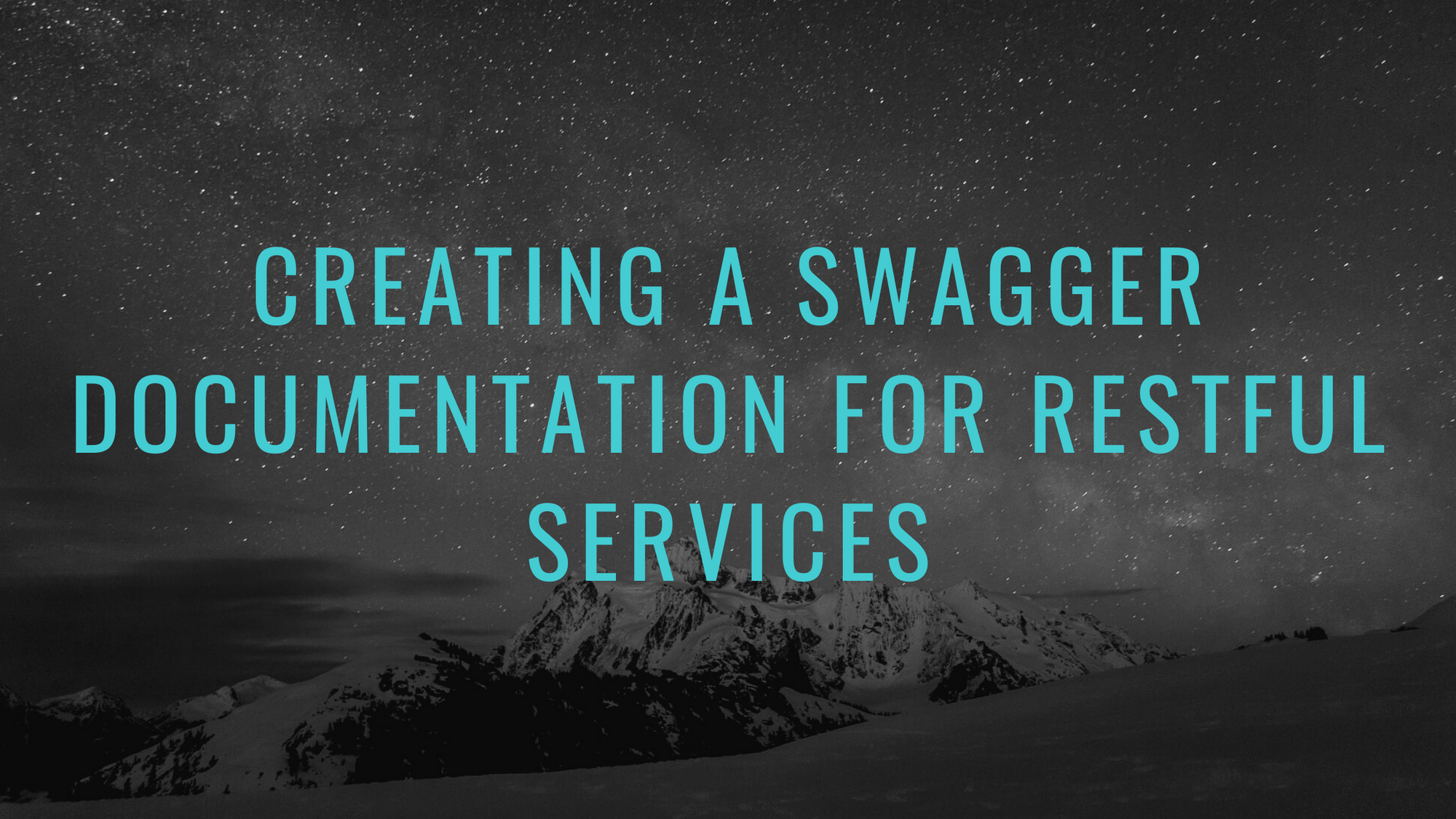 Creating A Swagger Documentation For RESTful Services