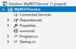 MyRESTService Project Explorer Overview