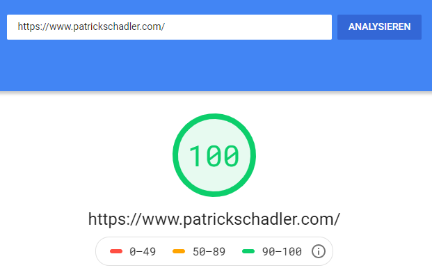 Google Page Speed Insights on this blog - Desktop mode